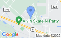 Map of Alvin TX