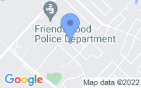 Map of Friendswood TX