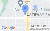 Map of Gainesville FL