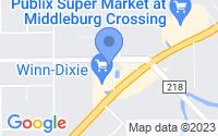 Map of Middleburg FL