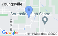 Map of Youngsville LA