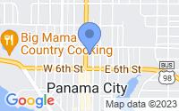 Map of Panama City FL