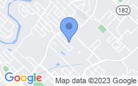 Map of Lafayette LA
