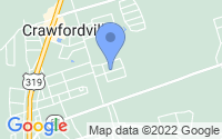 Map of Crawfordville FL