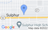 Map of Sulphur LA