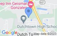 Map of Geismar LA