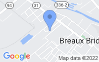 Map of Breaux Bridge LA