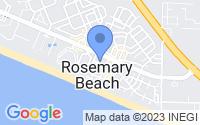 Map of Rosemary Beach FL