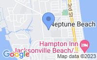 Map of Neptune Beach FL