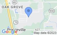 Map of Prairieville LA