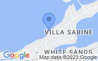 Map of Pensacola Beach FL