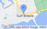 Map of Gulf Breeze FL