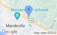 Map of Mandeville LA