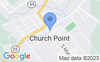 Map of Church Point LA