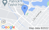 Map of Baton Rouge LA