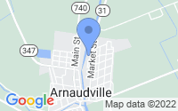 Map of Arnaudville LA