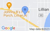 Map of Lillian AL