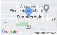 Map of Summerdale AL