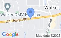 Map of Walker LA