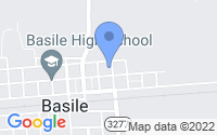 Map of Basile LA