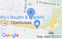 Map of Opelousas LA