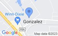 Map of Gonzalez FL