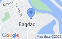 Map of Bagdad FL