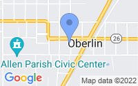 Map of Oberlin LA