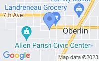Map of Oberlin LA