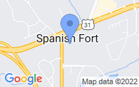 Map of Spanish Fort AL