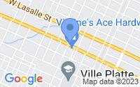 Map of Ville Platte LA