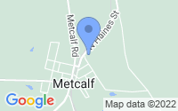 Map of Metcalf GA