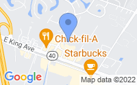 Map of Kingsland GA