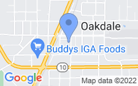 Map of Oakdale LA