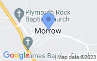 Map of Morrow LA