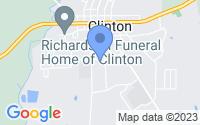 Map of Clinton LA