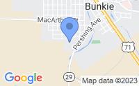 Map of Bunkie LA