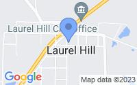 Map of Laurel Hill FL