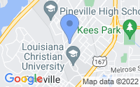 Map of Pineville LA