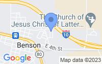 Map of Benson AZ