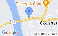 Map of Coushatta LA