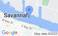Map of Savannah GA