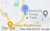 Map of Tyler TX