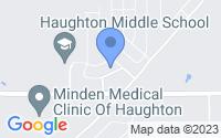 Map of Haughton LA