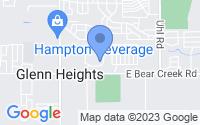 Map of Glenn Heights TX