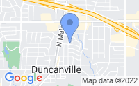 Map of Duncanville TX