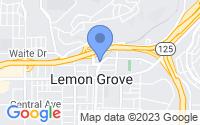 Map of Lemon Grove CA
