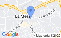 Map of La Mesa CA