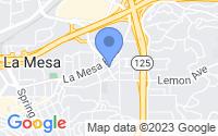 Map of La Mesa CA