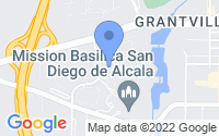 Map of San Diego CA